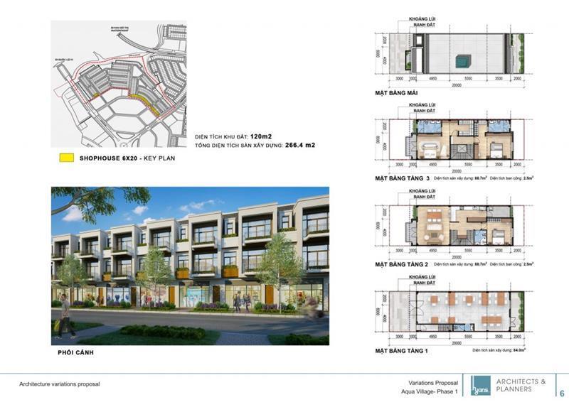 Thiết kế căn hộ shophouse của dự án Aqua City