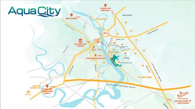 Vị trí đắc địa của dự án Aqua City