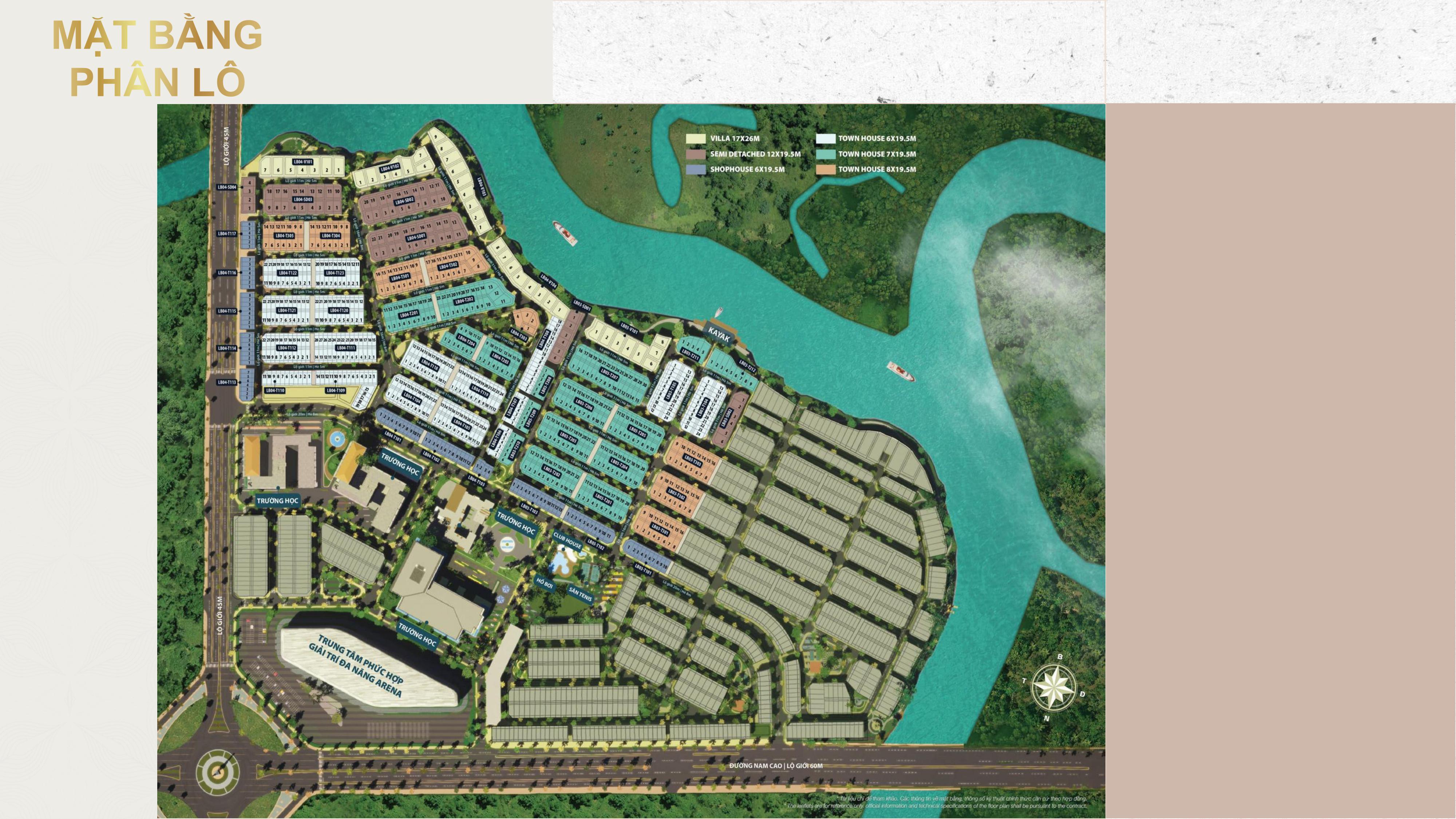 Mặt bằng phân khu mới nhất The Valencia của Dự án Aqua City