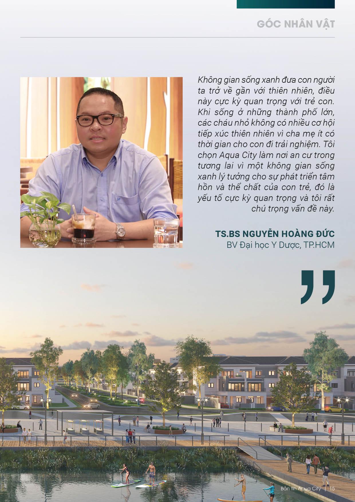 TS.BS Nguyễn Hoàng Đức nhận xét về Aqua City