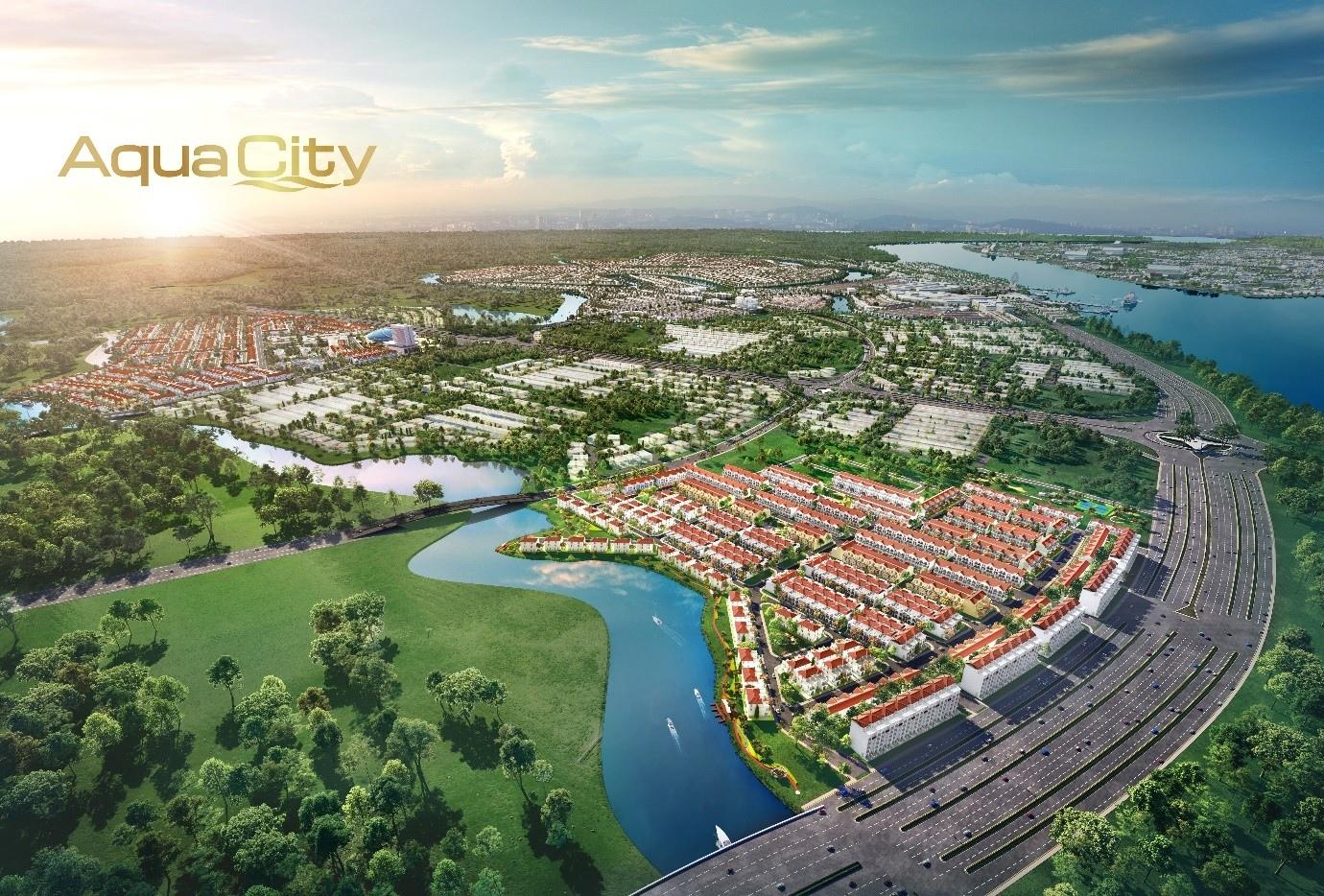 Dự án Aqua City nổi bật nhất là khu cửa ngõ River Park 1