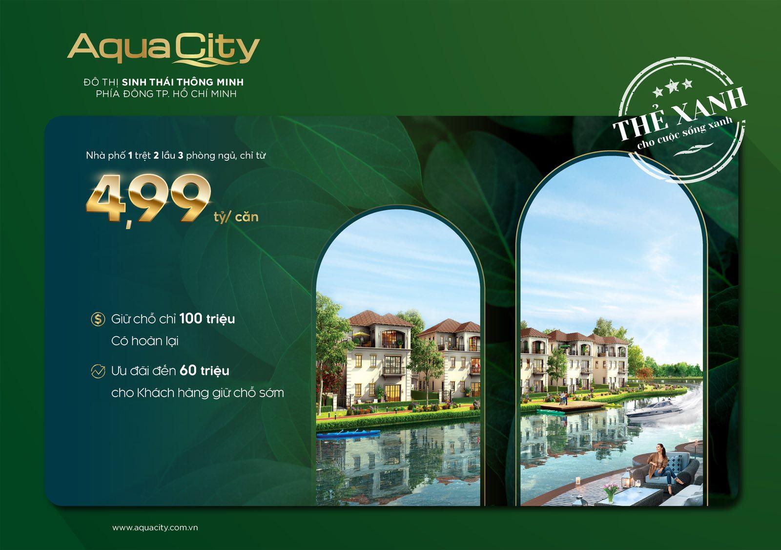 Chương trình ưu đãi thẻ xanh của dự án Aqua City