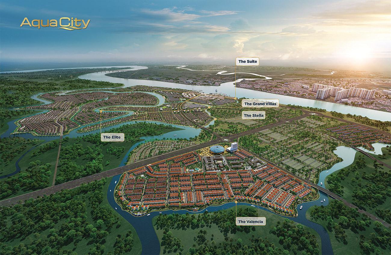 Tổng thể khu đô thị sinh thái Dự án Aqua City