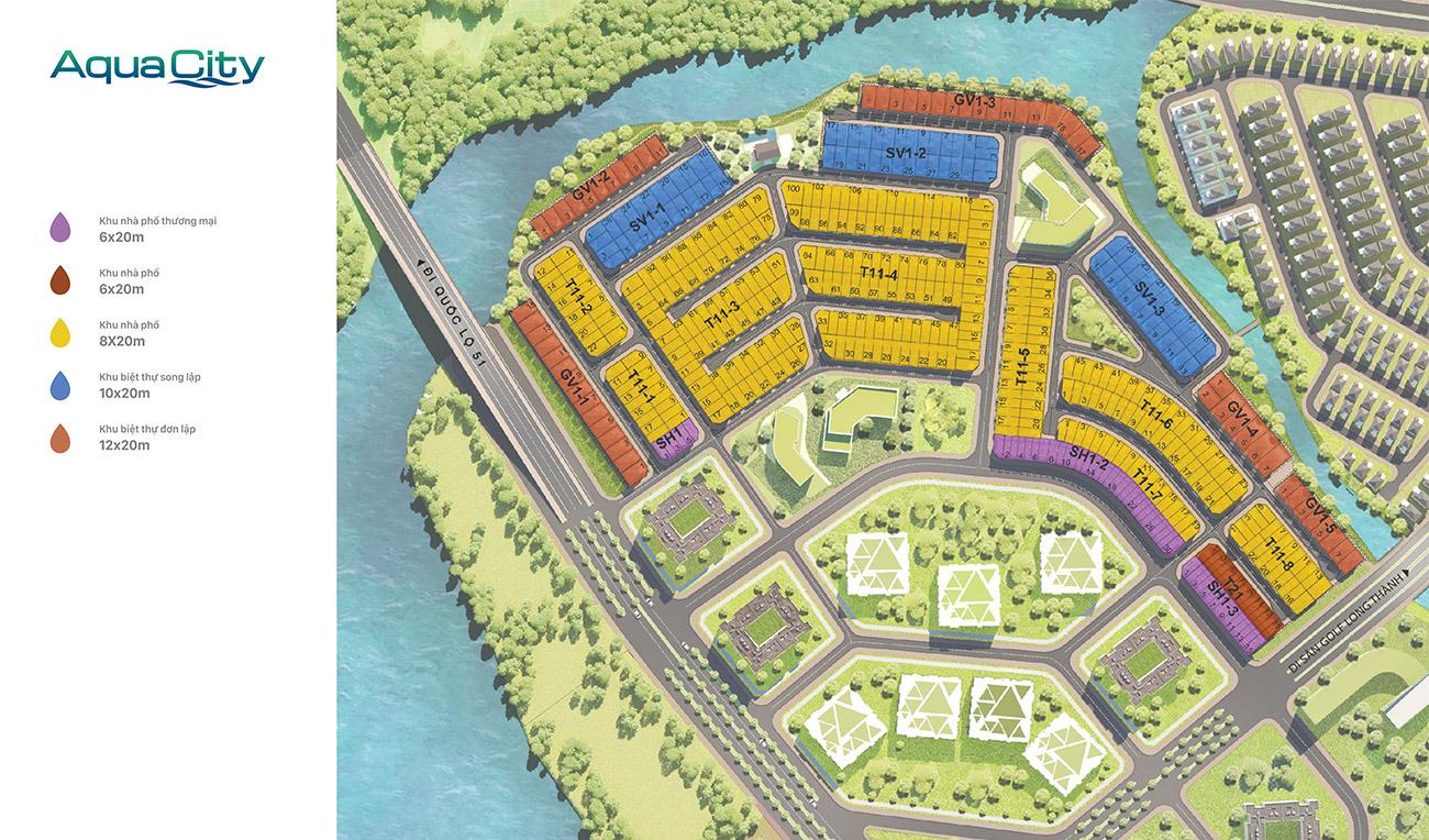 Mặt bằng phân khu The Suite Aqua City Novaland
