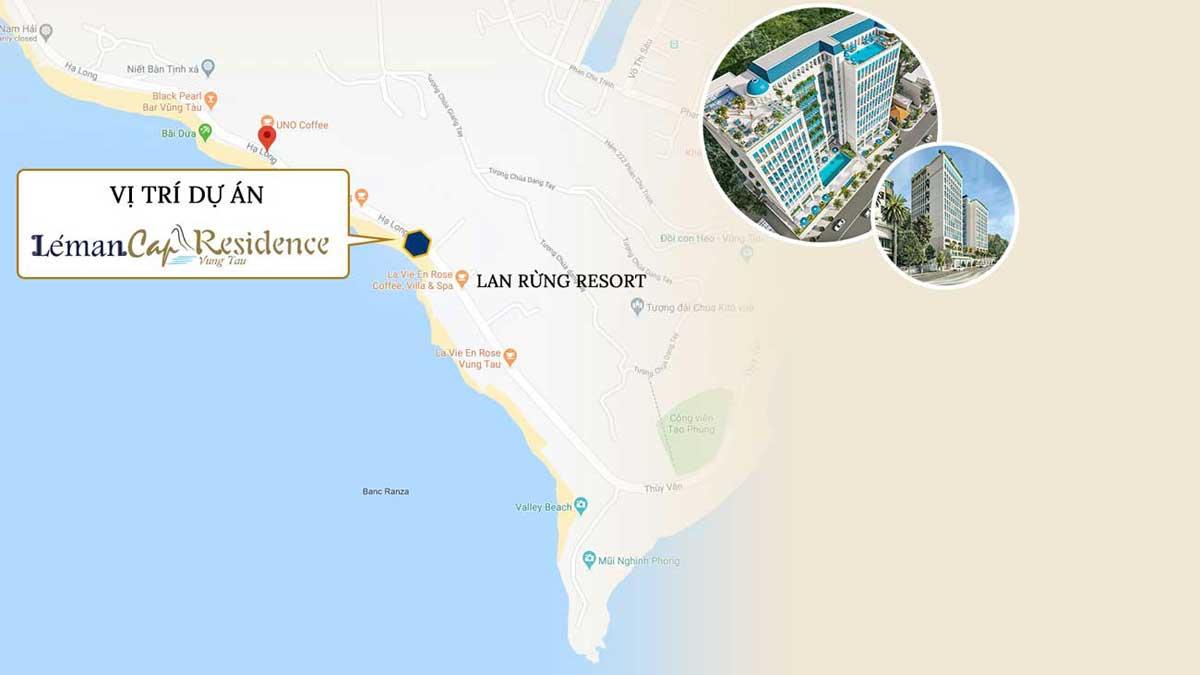 Bản đồ Vị trí Dự án Léman Cap Residence Vũng Tàu