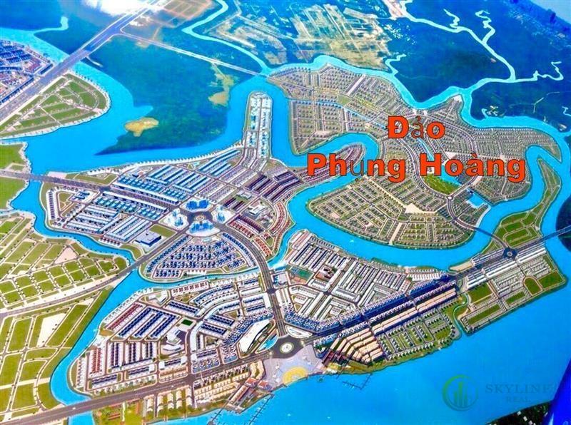 Phối cảnh tổng thể dự án nhà phố Aqua City The Phoenix Island Biên Hòa Đồng Nai chủ đầu tư NovaLand