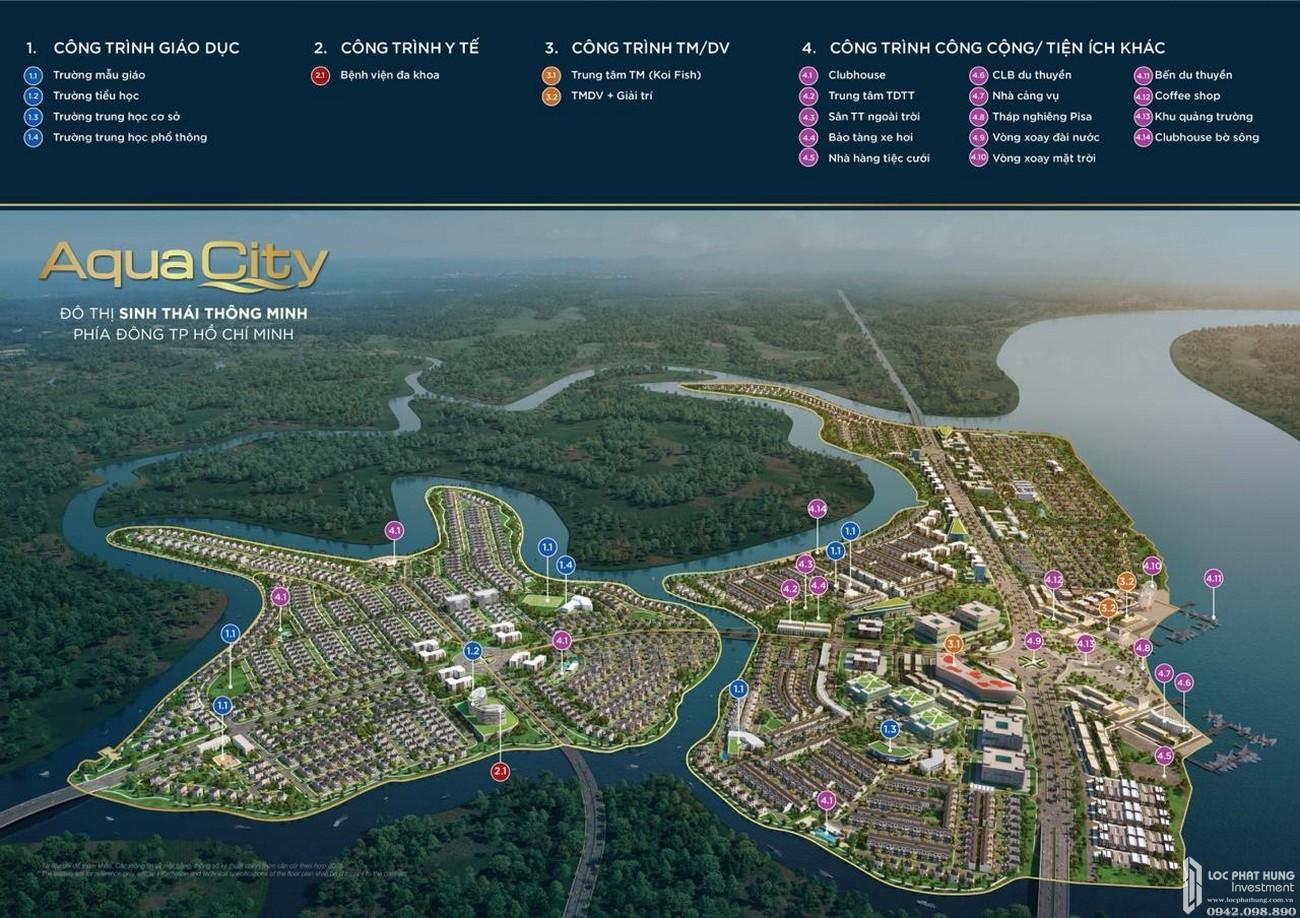 Tiện ích nội khu nổi bật của dự án Aqua City