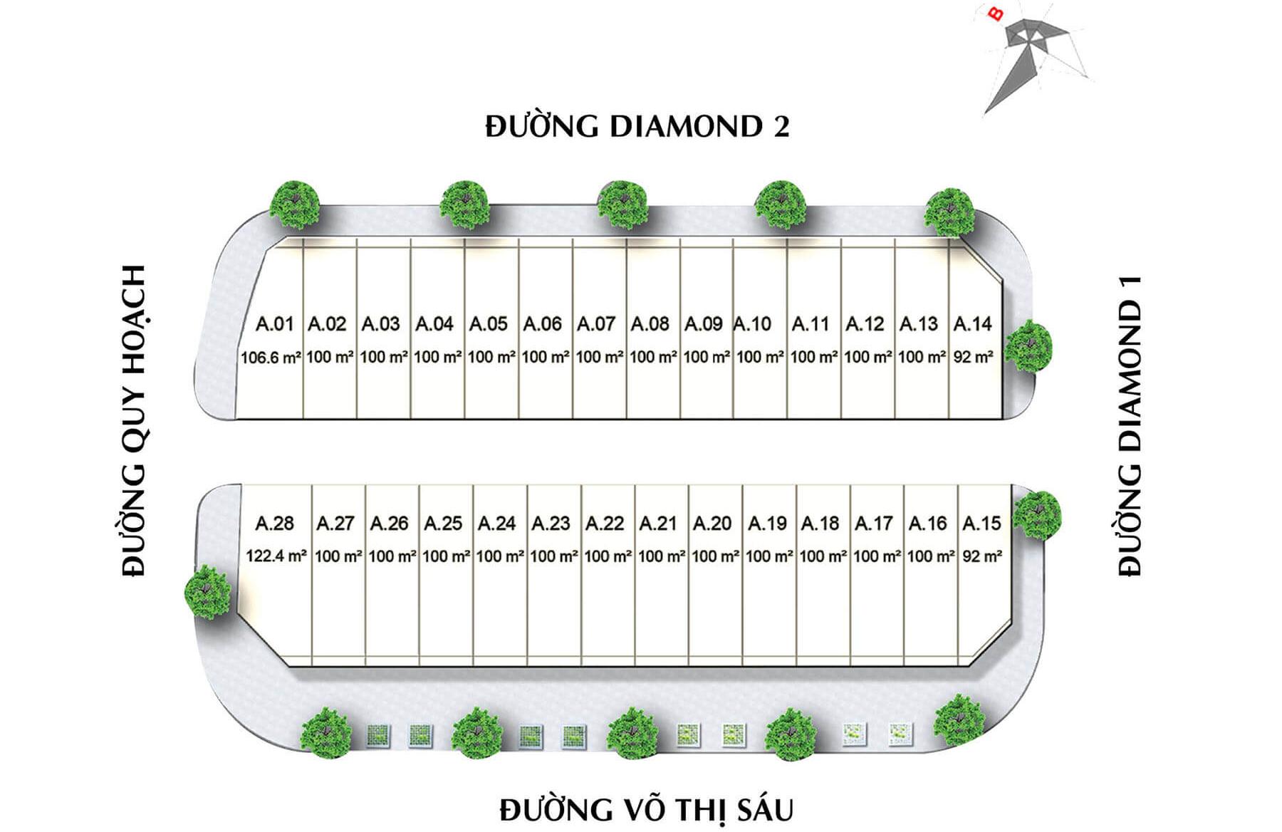 Mặt bằng chi tiết dự án Diamond Central