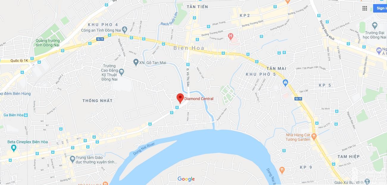 Địa chỉ vị trí chính xác dự án Diamond Central