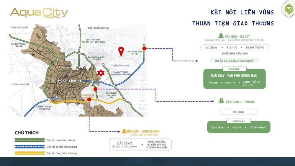 Kết nối vùng dự án Aqua City đảo Phụng Hoàng