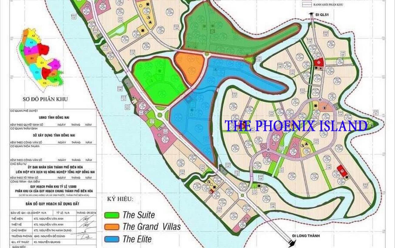 Mặt bằng dự án Aqua City đảo Phụng Hoàng