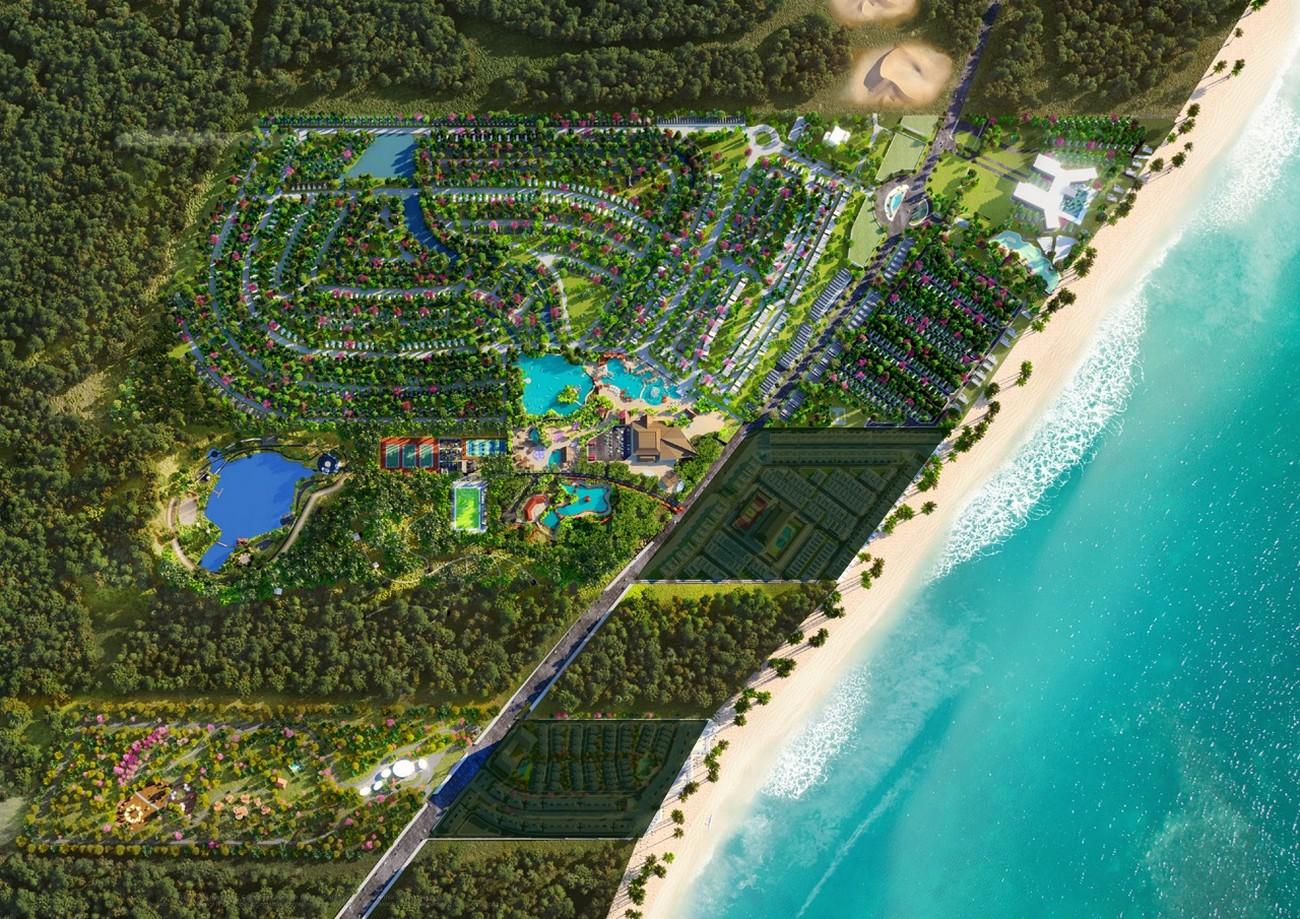Mặt bằng dự án nhà phố Novaworld Hồ Tràm Bình Châu chủ đầu tư Novaland