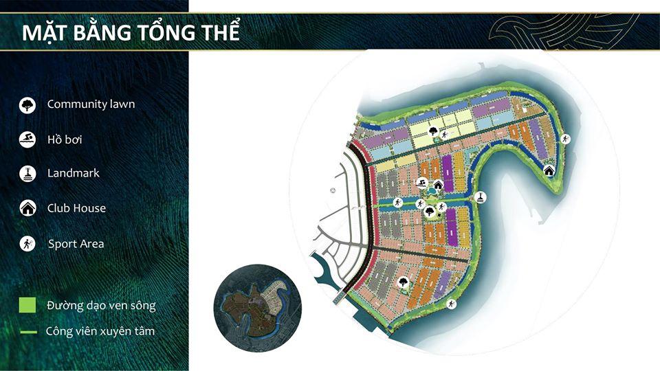 Mặt bằng tổng thể của dự án Aqua City đảo Phụng Hoàng