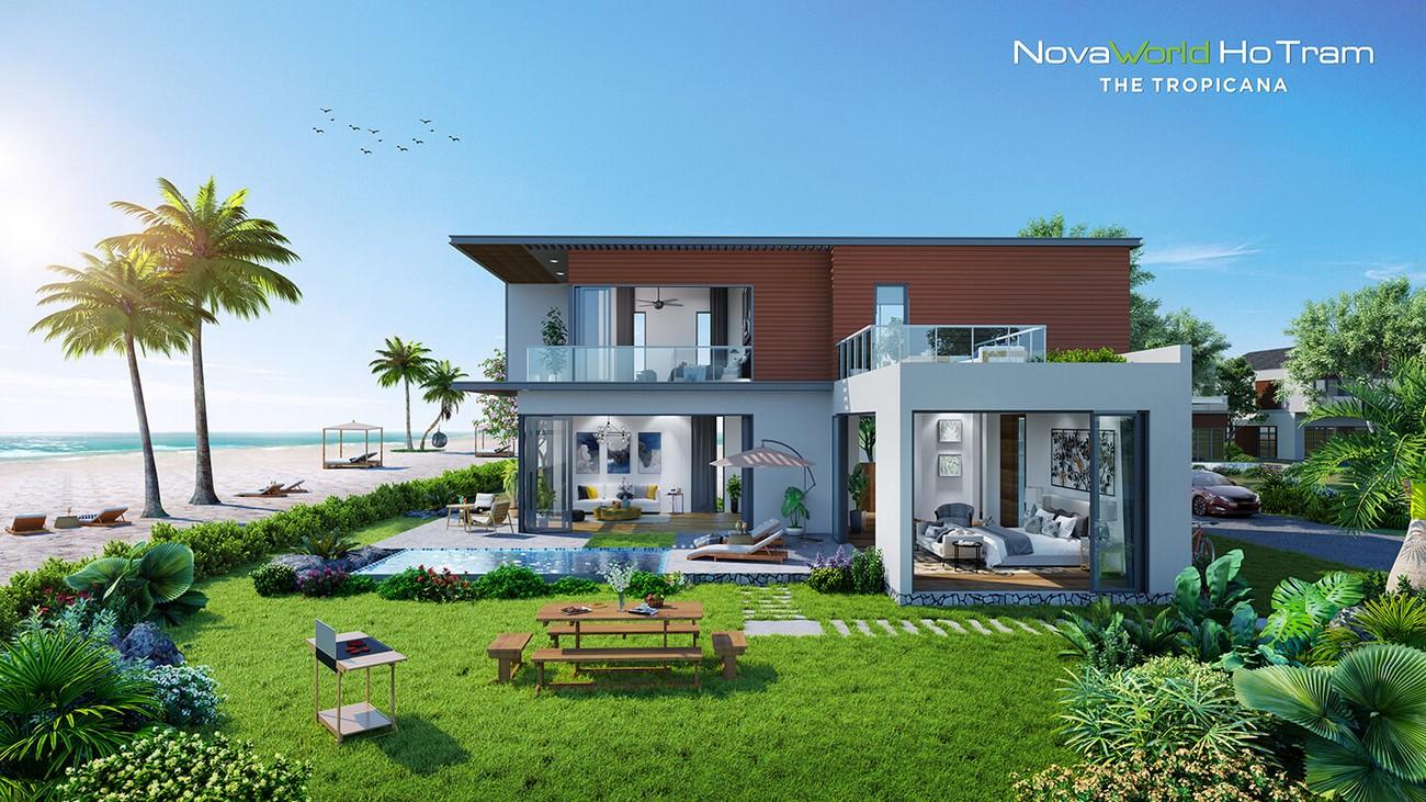 Nhà mẫu dự án nhà phố Novaworld Hồ Tràm Bình Châu chủ đầu tư Novaland