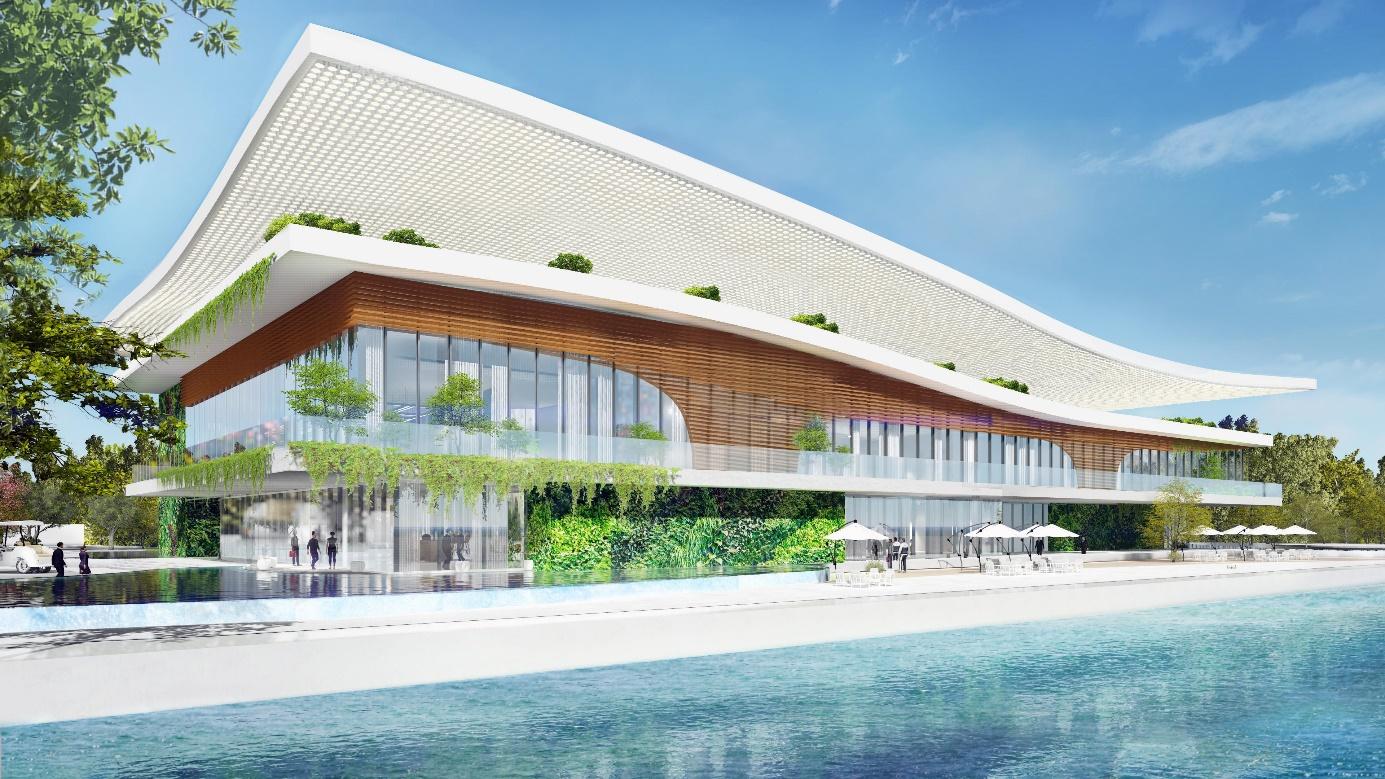 Tổng quan Phối cảnh Angel Island Experience Gallery dự án khu đô thị Nhơn Phước