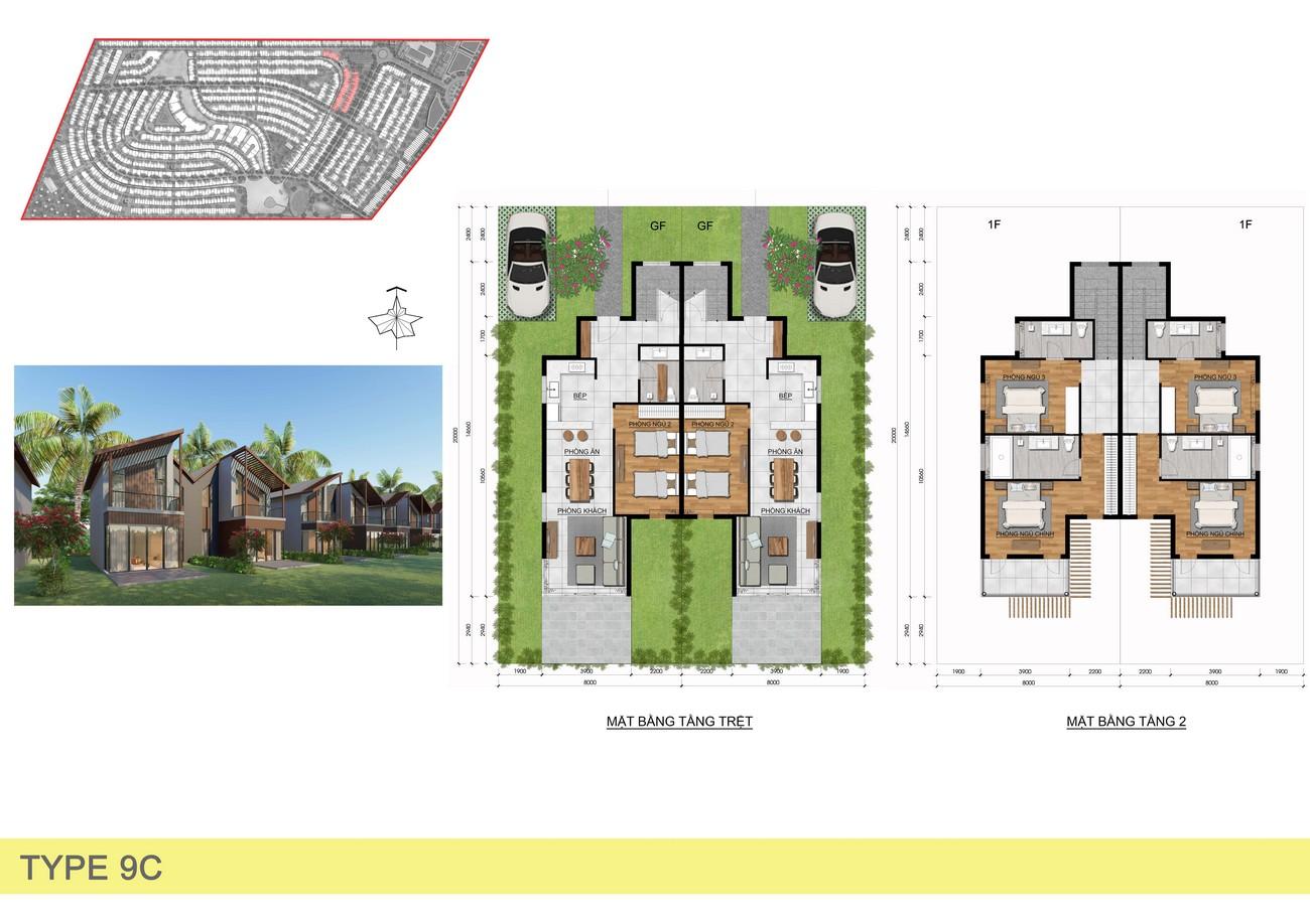 Thiết kế dự án nhà phố Novaworld Hồ Tràm Bình Châu chủ đầu tư Novaland
