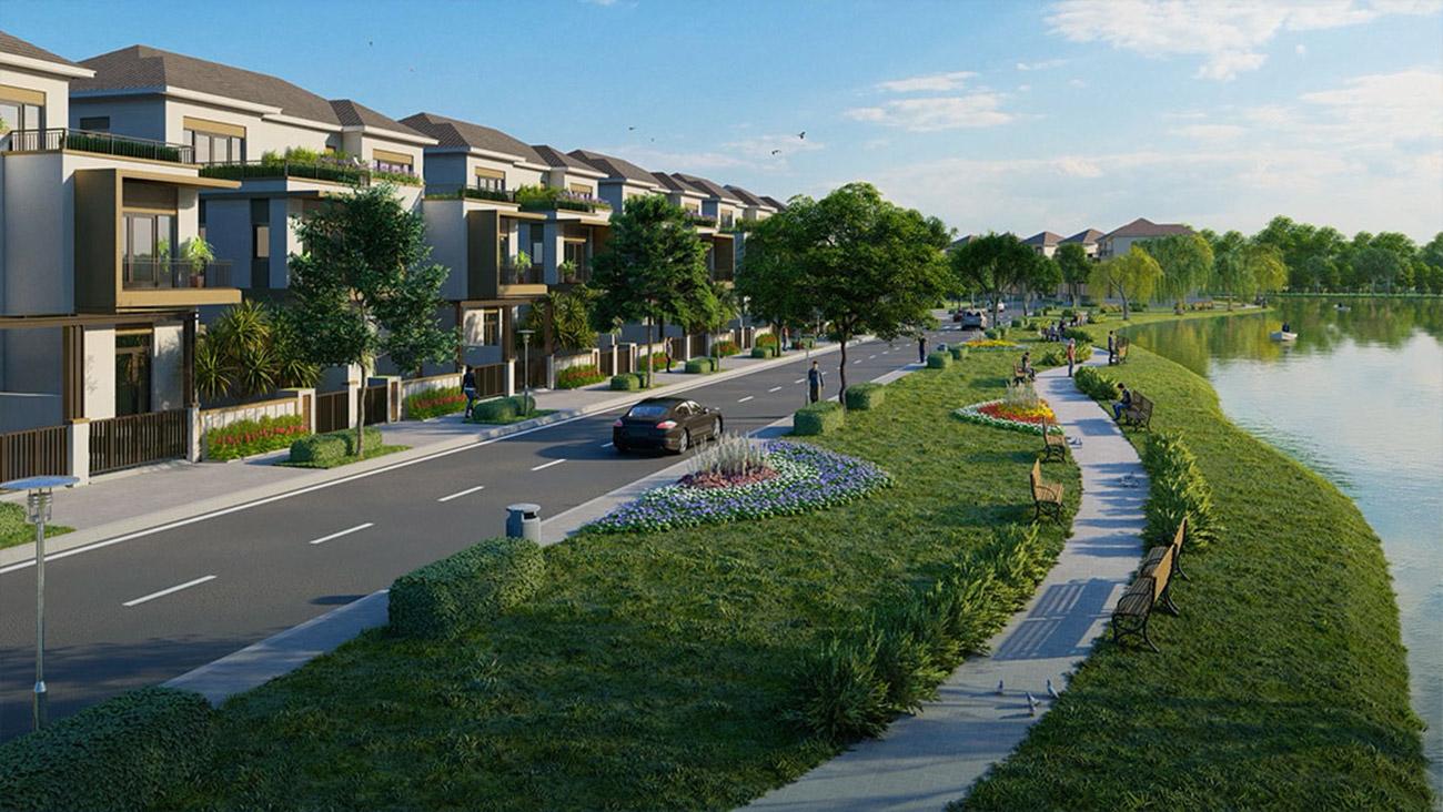 Đường chạy bộ ven sông tại dự án Aqua City Đảo Phụng Hoàng Đồng Nai
