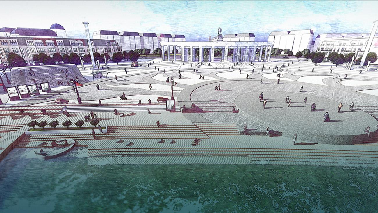 Quảng trường ánh sáng tại dự án Aqua City Đảo Phụng Hoàng Đồng Nai