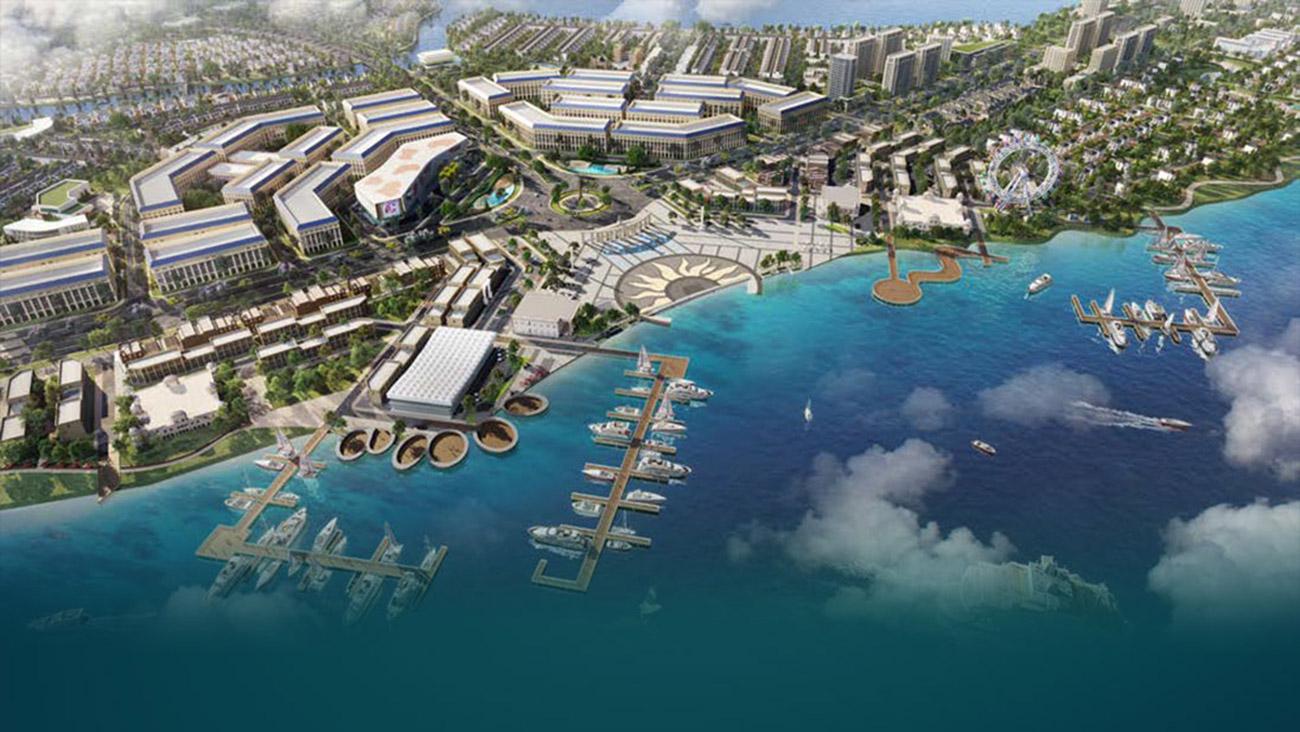 Tổng thể bến du thuyền 5 sao của dự án aqua city đảo phụng hoàng