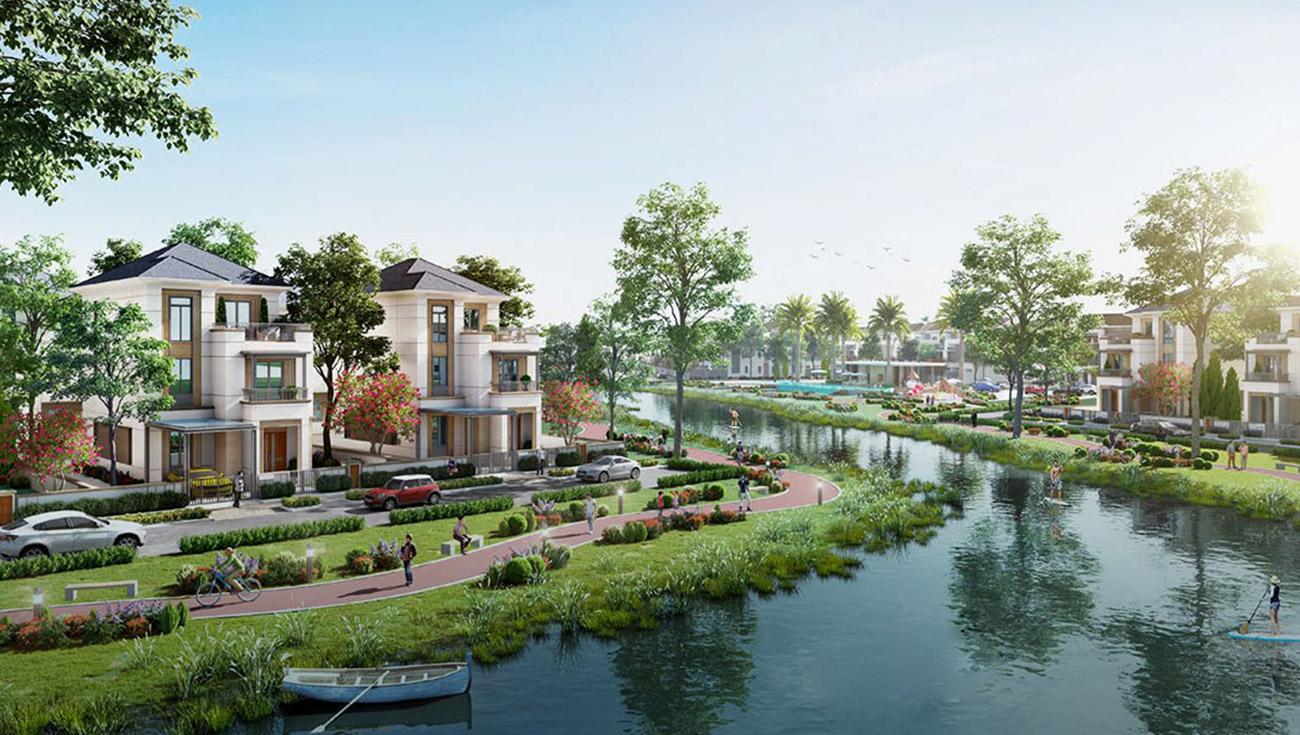 Biệt thự ven sông tại dự án Aqua City Đảo Phụng Hoàng Đồng Nai
