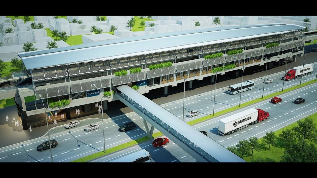 Tuyến metro Bến Thành – Suối Tiên cách dự án nhà phố Aqua City The Phoenix South Đồng Nai chủ đầu tư NovaLand chưa đầy 2km