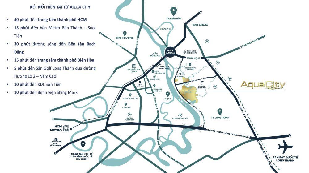 Kết nối giao thông dự án Aqua City đảo Phụng Hoàng năm 2020