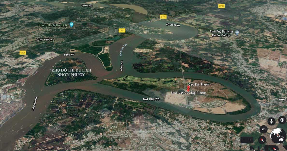 Vị trí địa chỉ của dự án khu đô thị Nhơn Phước