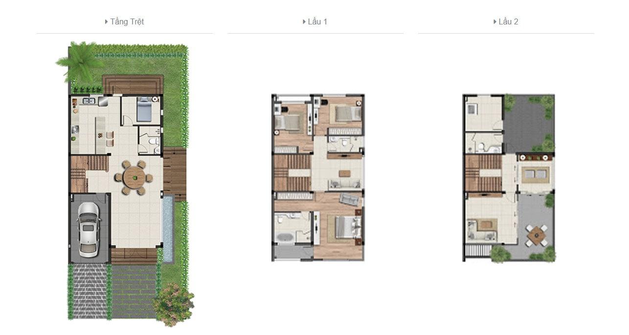 Thiết kế biệt thự song lập dự án Khang Điền Quận 2
