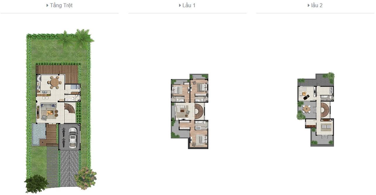 Thiết kế chi tiết biệt thự đơn lập Clarita Khang Điền quận 2