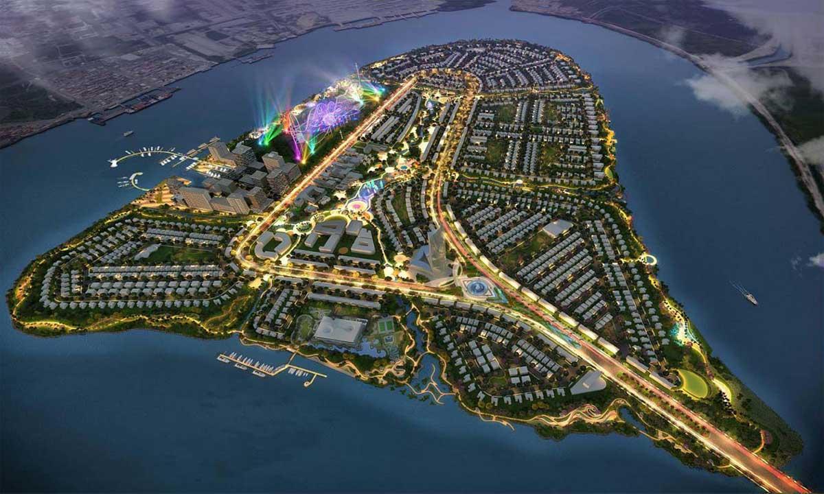 Phối cảnh dự án khu đô thị Angel Island