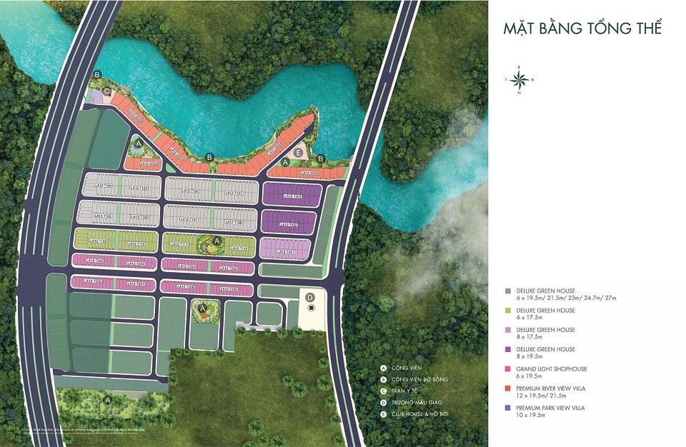 Mặt bằng phân khu River Park 1 dự án Aqua City