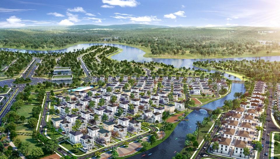 Hình ảnh phân khu The Grand Villas dự án Aqua City