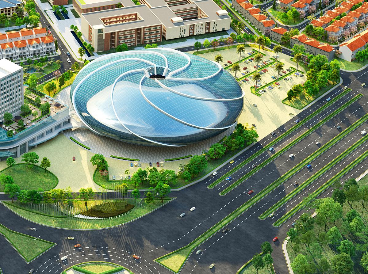 Trung tâm phức hợp giải trí đa năng trong nhà Aqua Arena