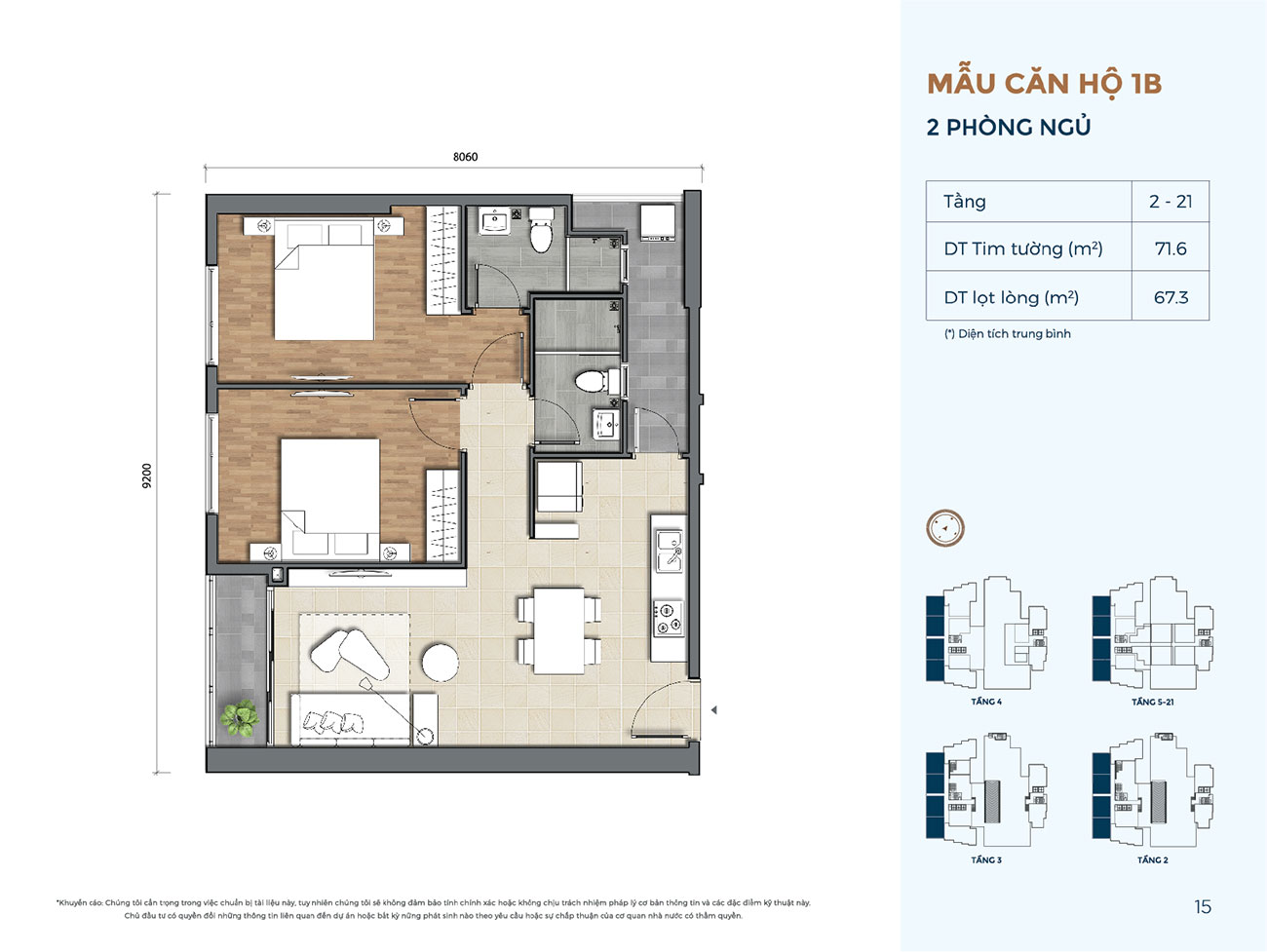 Thiết kế chi tiết các căn hộ thuộc dự án Astral City