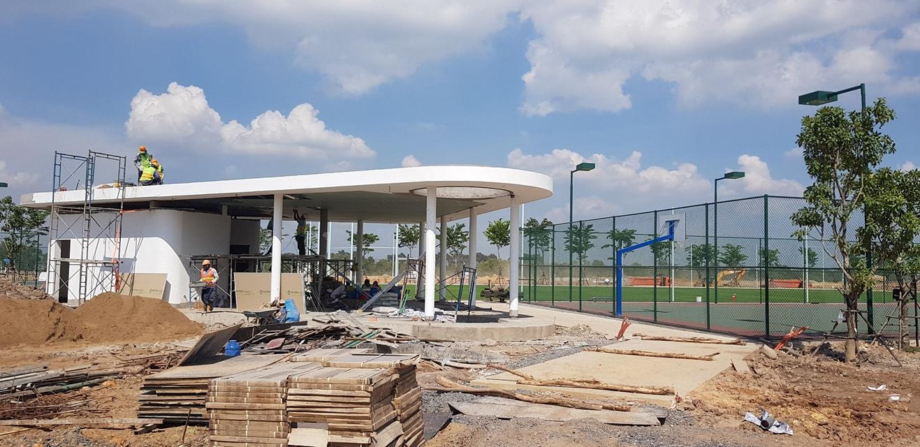 Tiến độ thi công khu tiện ích Aqua City Aqua Sport Complex