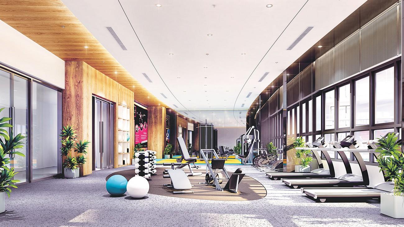 Phòng tập GYM, Yoga hiện đại tại dự án