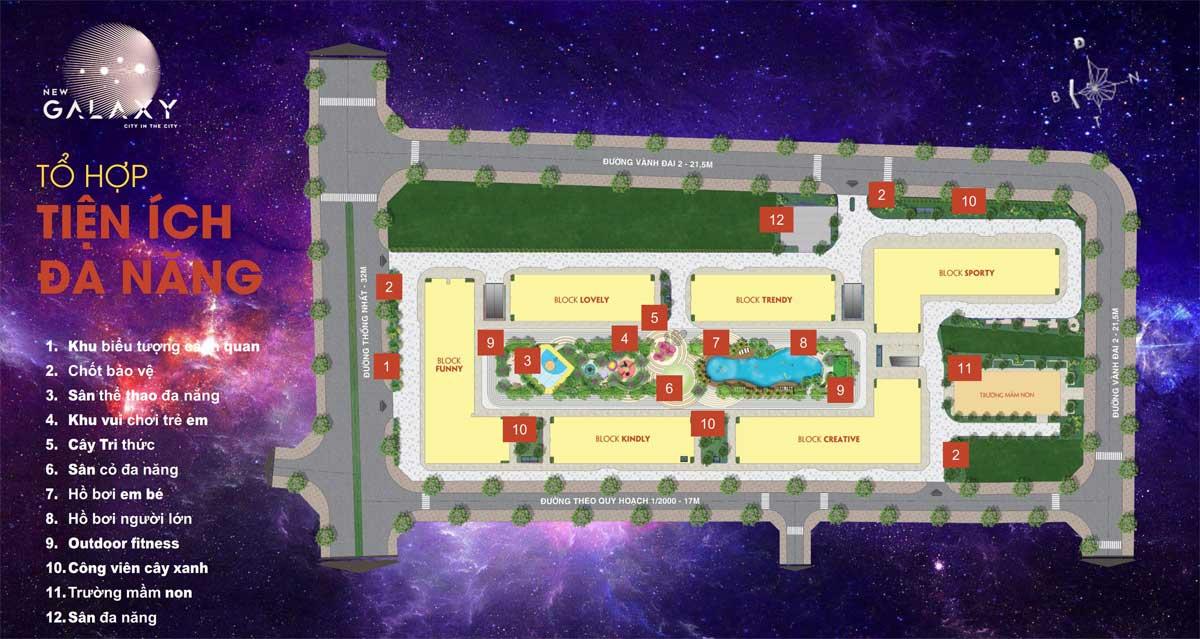 Hệ thống tiện ích nội khu Dự án New Galaxy Dĩ An Bình Dương