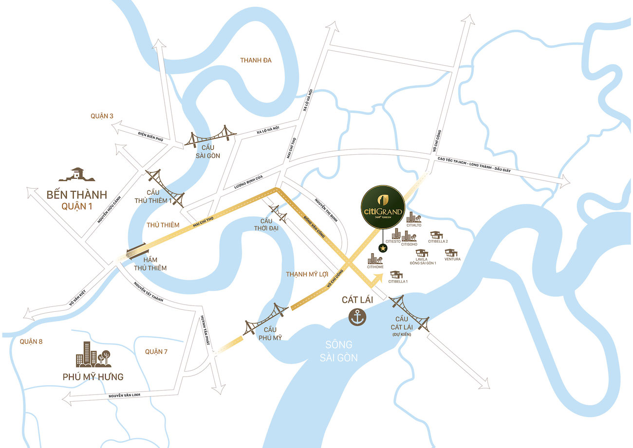 Vị trí vàng dự án Citi Grand Quận 2