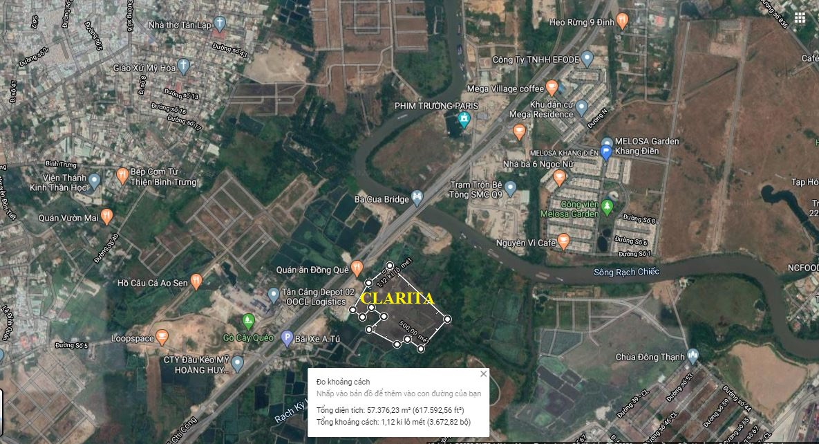 Vị trí dự án Clarita Khang Điền Quận 2