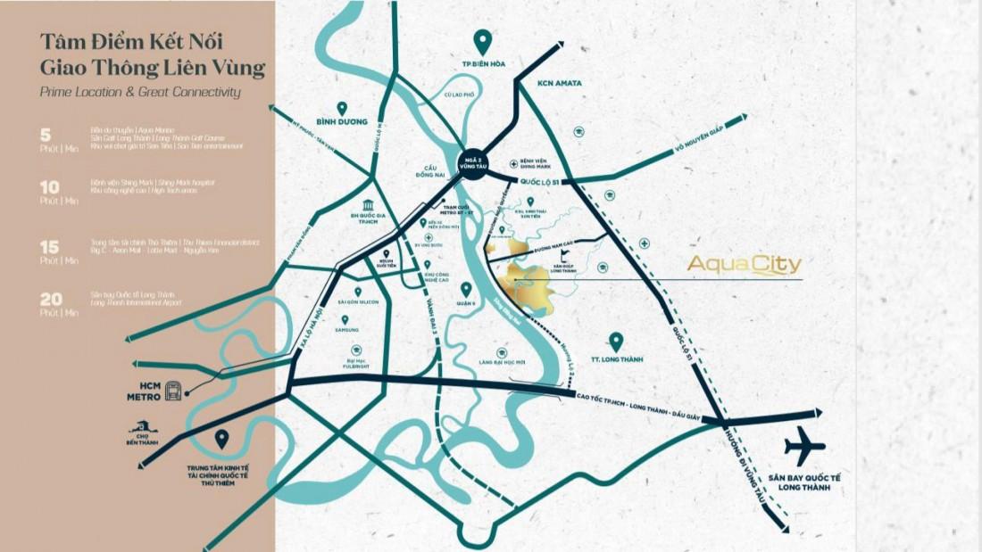 vị trí đắc đia của the stella aqua city