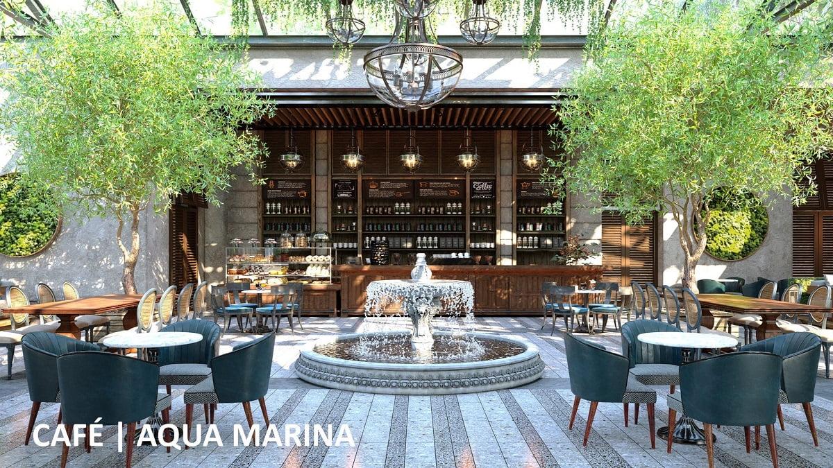 Chuỗi nhà hàng, cafe tại Aqua Marina