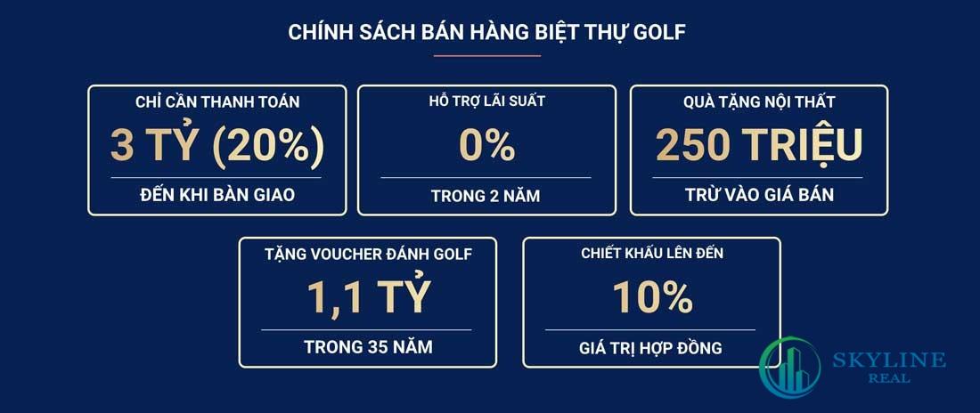 Chính sách bán hàng biệt thự Golf NovaWorld Phan Thiết