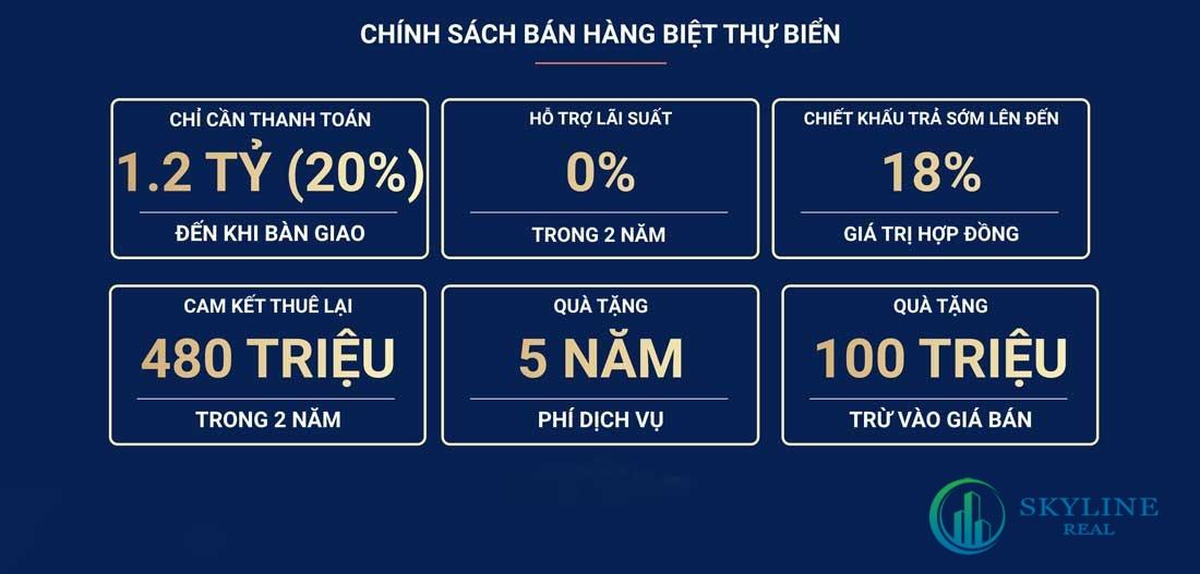 Chính sách bán hàng biệt thự biển NovaWorld Phan Thiết