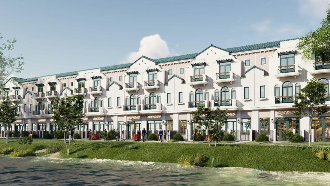 Không gian sống xanh chan hòa thiên nhiên mở ra giá trị sống chuẩn sinh thái cho cư dân tại phân khu River Park 1 của đô thị Aqua City