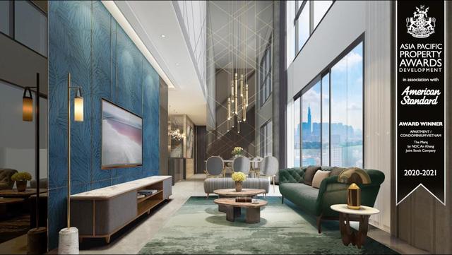 Lối thiết kế nội thất hiện đại với thang máy riêng, đá cẩm thạch sang trọng và trần cao 3.2, thậm chí là 6,9m tại một số căn 4 phòng ngủ giúp tạo nên điểm nhấn hoàn hảo cho The Marq