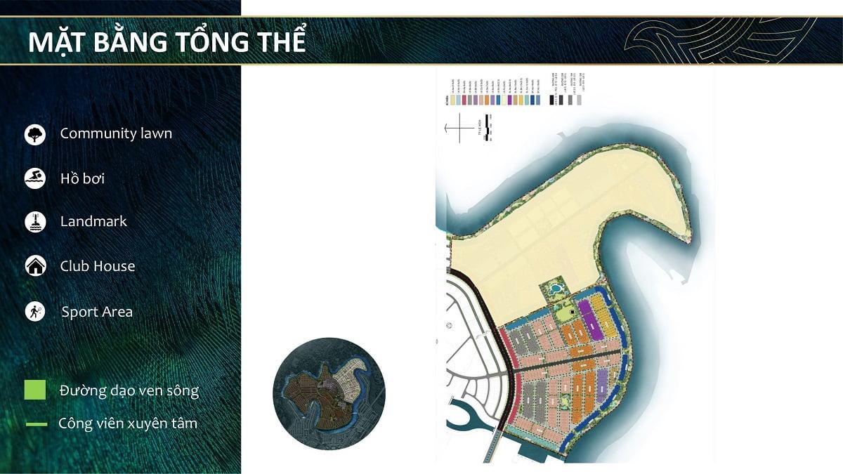 Mặt bằng tổng thể của đảo Phụng Hoàng Aqua City