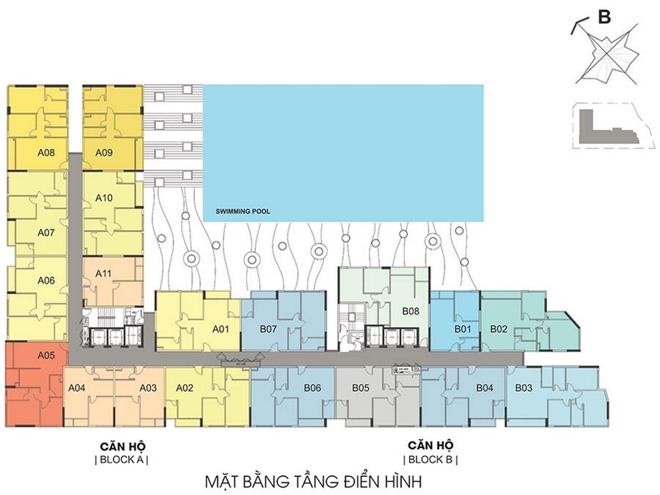 Mặt bằng dự án căn hộ chung cư Thủ Thiêm Dragon Quận 2 Đường Quách Giai chủ đầu tư Thủ Thiêm Group