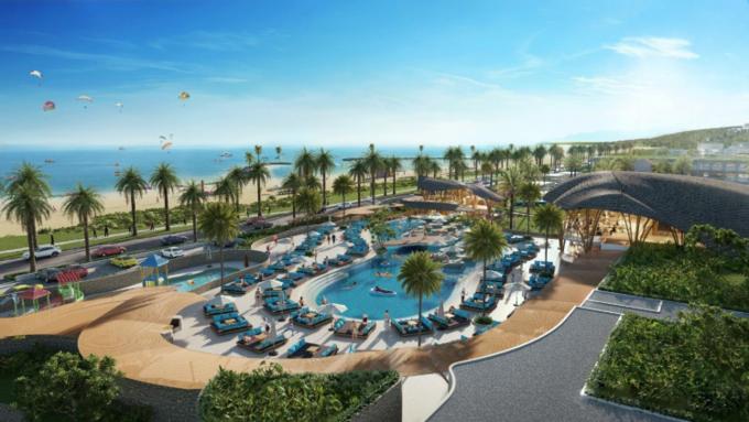 Phối cảnh câu lạc bộ bãi biển tại NovaWorld Phan Thiet