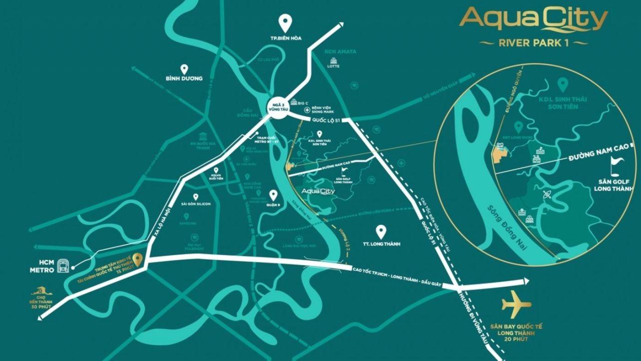 Vị trí, tâm điểm kết nối của dự án Aqua City