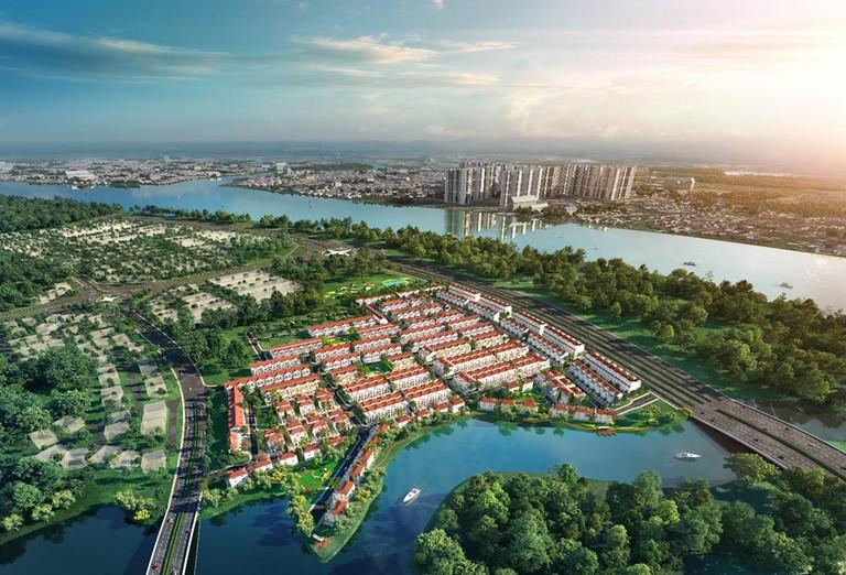 Phối cảnh phân khu River Park 1 của dự án Aqua City
